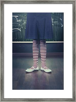 Legs Of A Schoolgirl Framed Print