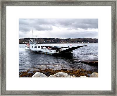 Lehave Cable Ferry Framed Print by Janet Ashworth