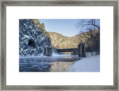 Lehigh River - Glen Onoko Park  Framed Print by Bill Cannon
