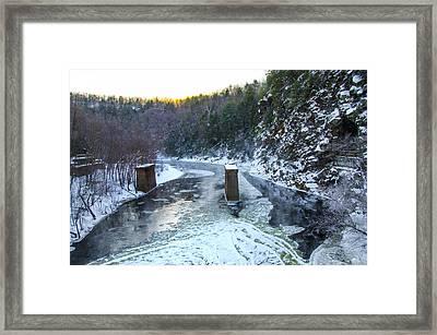 Lehigh River - Glen Onoko Park - Jim Thorpe Pa Framed Print by Bill Cannon