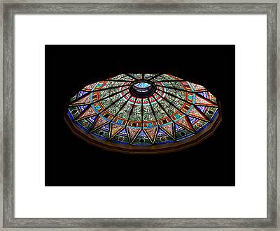 Lehigh University Linderman Library Rotunda Window Framed Print