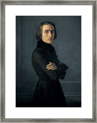 Lehmann, Heinri 1814-1882. Portrait Framed Print by Everett