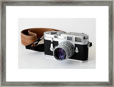 Leica M3 With Leather Strap Framed Print by RicardMN Photography