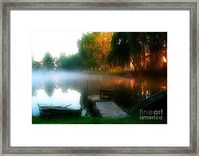 Leidy Lake Campground Framed Print by Douglas Stucky