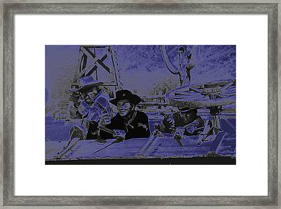 Leif Erickson Cameron Mitchell Mark Slade Attacking Apaches 3 High Chaparral Old Tucson 1969-2009 Framed Print by David Lee Guss