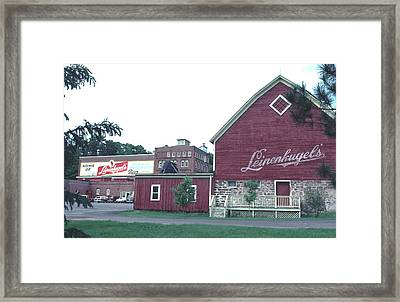 Framed Print featuring the photograph Leinenkugel Brewery Chippewa Falls Wi by Tom Wurl