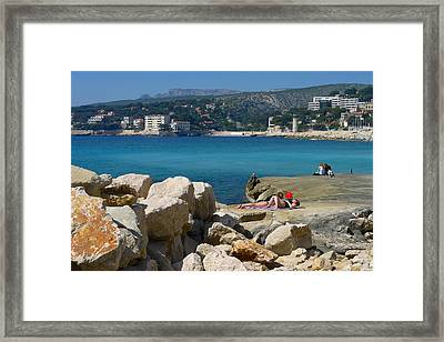 Leisure In Cassis Framed Print