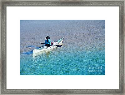 Leisure On The Lake Framed Print