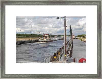 Framed Print featuring the photograph Leland Bowman Locks 6 by Gregory Daley  PPSA