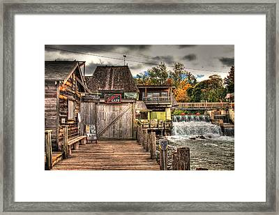 Leland Dock And Dam  Framed Print