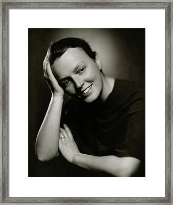 Lelia Roosevelt Denis Framed Print by Ben Pinchot