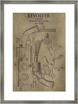 Lemat Revolver Patent Framed Print by Dan Sproul