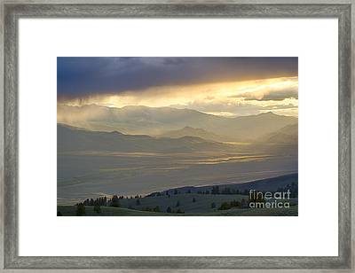 Lemhi Valley Light Framed Print by Idaho Scenic Images Linda Lantzy