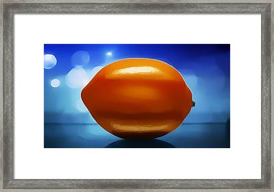 Lemon Framed Print by Aaron Berg
