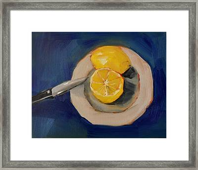 Lemon And One Half Framed Print