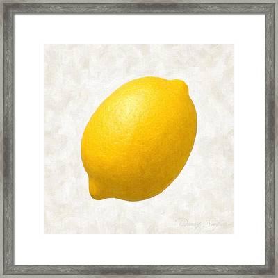Lemon  Framed Print by Danny Smythe