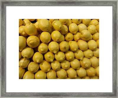 Lemon Drops Framed Print by Emmy Marie Vickers