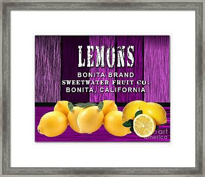Lemon Farm Framed Print by Marvin Blaine