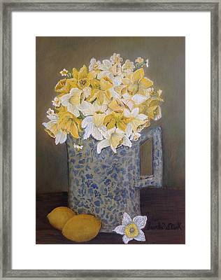 Lemon Jonquils Framed Print
