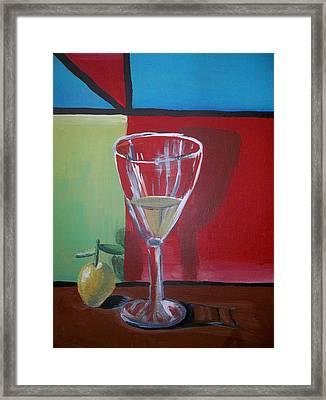 Lemon Juice Framed Print