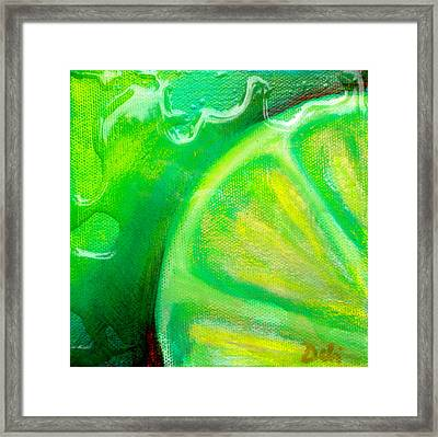 Lemon Lime Framed Print by Debi Starr