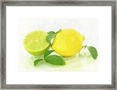 Lemon-lime Framed Print