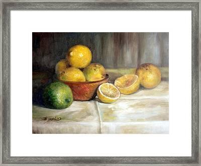 Lemon Lime Framed Print by Sharen AK Harris
