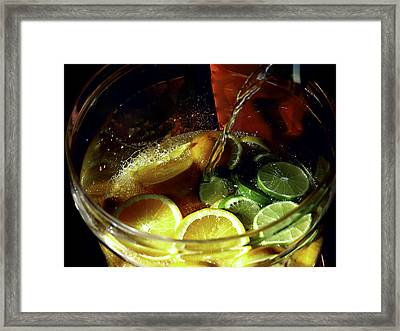 Lemon Limeade Framed Print by Camille Lopez