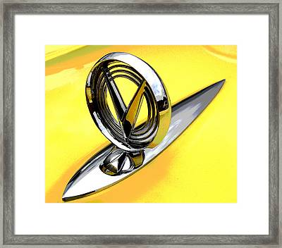 Lemon Merengue Buick Framed Print by Mike Flynn