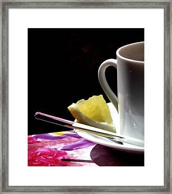 Lemon Please Framed Print by Angela Davies