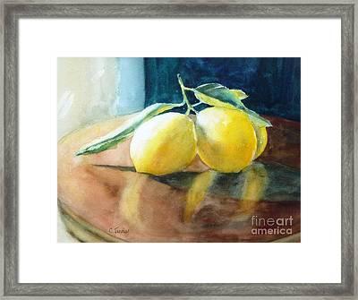 Lemon Reflections Framed Print