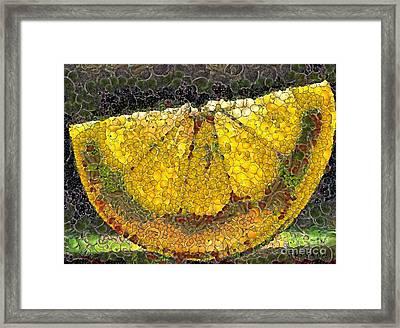 Lemon Slice Framed Print by Dragica  Micki Fortuna