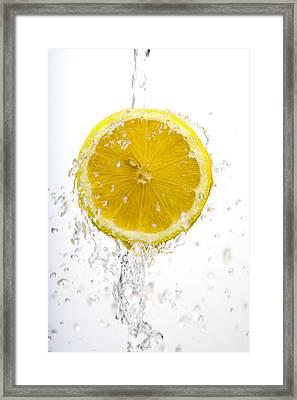 Lemon Splash Framed Print