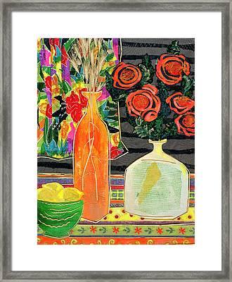 Lemon Squash And Pumpkin Framed Print by Diane Fine