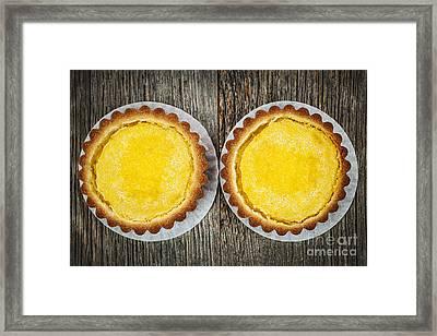 Lemon Tarts Framed Print by Elena Elisseeva