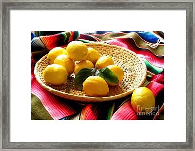 Lemon Time Again Framed Print by Marilyn Smith