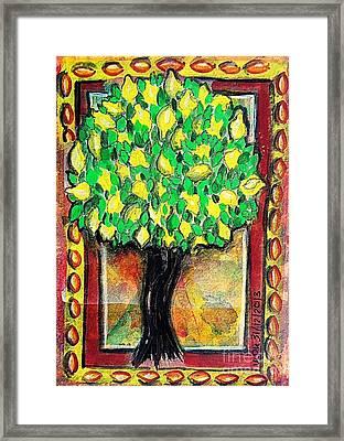Lemon Tree Framed Print by Mimulux patricia no No