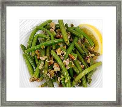 Lemon-walnut Green Beans Framed Print