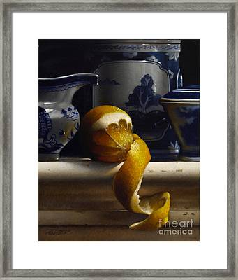Lemon With Canton Vertical Framed Print