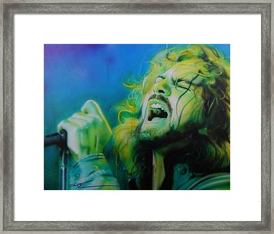 Eddie Vedder - ' Lemon Yellow Sun ' Framed Print by Christian Chapman Art