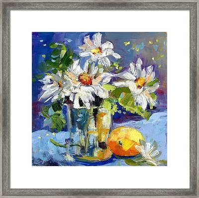 Lemonade Daisies Framed Print