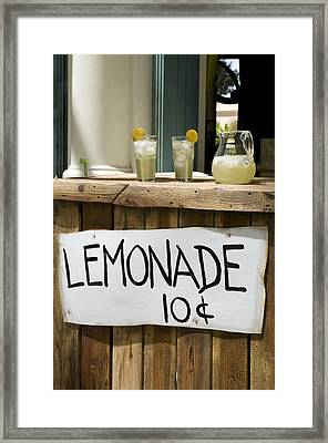Lemonade Stand Framed Print