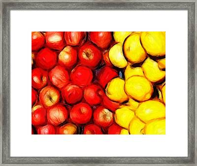 Lemons And Apples Framed Print by Steve K