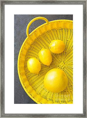 Lemons And Grapefruit Framed Print by Veronique Burger