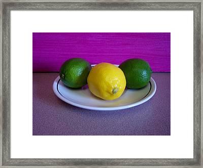 Lemons And Limes Framed Print