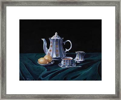 Lemons And Tea Framed Print by Anastasiya Malakhova
