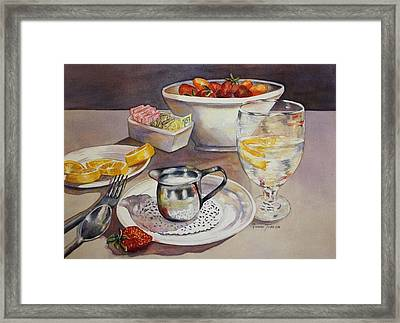 Lemons And Things Framed Print by Roxanne Tobaison