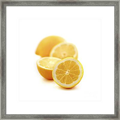 Lemons Framed Print by Elena Elisseeva