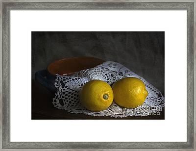 Lemons Framed Print by Elena Nosyreva