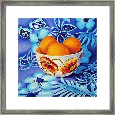 Lemons In A Bowl Framed Print by Marina Petro